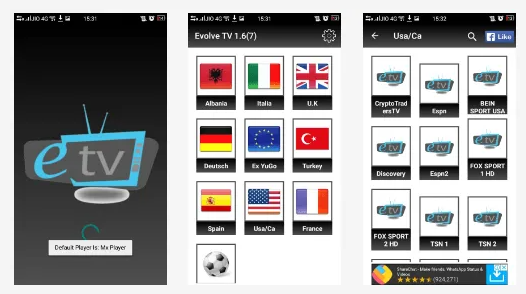 download evolve tv for android